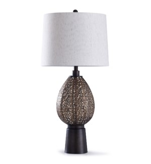 Finchley Bronze | 34in Ornamental Metal Table Lamp on a Bronze Base | 100W | 3-Way