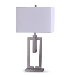 Brushed Nickle | 38in Contemporary Brushed Nickle Table Lamp | 150W | 3-Way