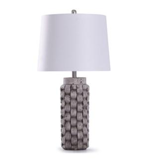 Artherstone | 32in Grey Weaved Weaved Table Lamp | 150W | 3-Way
