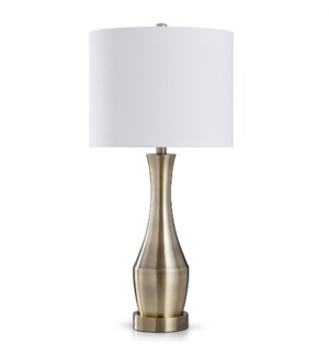 ANTIQUE BRASS TOUCH LAMP   32in X 14in   Antique Brass   Transitional Steel Touch Table Lamp
