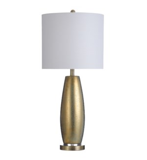 BASILE GOLD | 15in w X 33in ht X 15in d | Ceramic Table Lamp with Acrylic Rings and Steel Base | 150