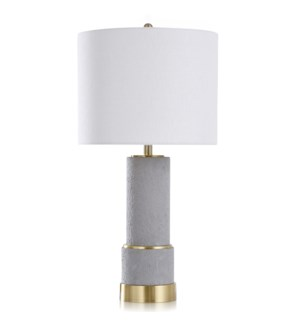 TORRINGTON GOLD | Contemporary Concrete & Metal Body Table Lamp | 16in w X 32in ht X 16in d | 100 Wa