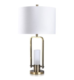 STEEL/GLASS TABLE LAMP