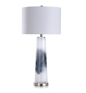 TREMA CHARCOAL | Contemporary Contrast Art Glass Body Table Lamp | 17in w X 34in ht X 17in d | 150 W