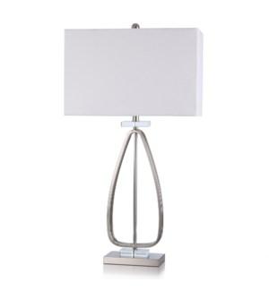 STEEL/CRYSTAL TABLE LAMP