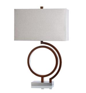 STEEL/MDF TABLE LAMP