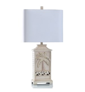 CREAM CURRENT   Traditional Coastal Table Lamp    17in w X 33in ht X 10in d   100 Watts