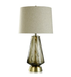 GLASS/ STEEL TABLE LAMP