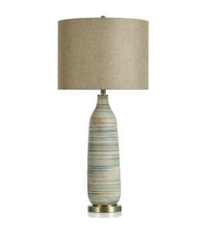 CERAMIC/ STEEL TABLE  LAMP