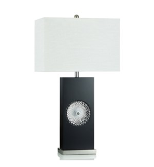 MDF/GLASS/ STEEL TABLE LAMP