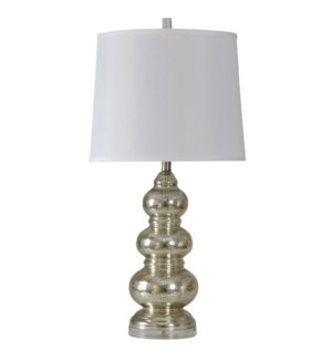 NORTHBAY | 34in X 15in | Glass Body Lamp with Fabric Shade