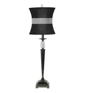 Crystal/Steel Table Lamp