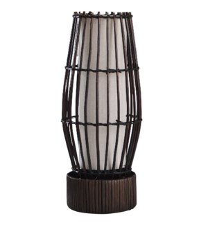 Eastwood | 18in Rattan & Fabric Uplight | 25 Watts | On-Off Line Switch