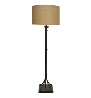 Industrial Bronze | Transitional Iron Base Floor Lamp