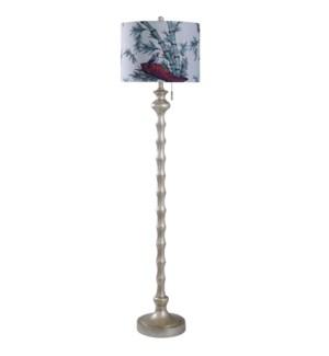 Imperial Silver   65in Cast Coastal Floor Lamp   150 Watts   3-Way