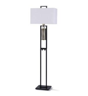 BINGLEY GOLD FLOOR LAMP   65in ht.   Transitonal Modern Style Metal Floor Lamp with Gold Metal Penda