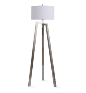 Polished Nickle | 62in Stylish Modern Metal Floor Lamp | 150W | 3-Way
