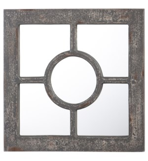 Weathered Wooden Accent Mirror