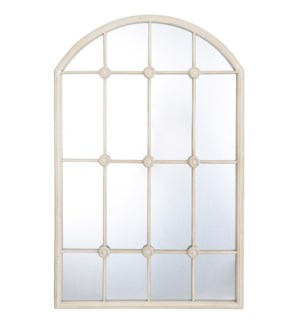 TAYLOR TAUPE MIRROR | 20in w. X 32in ht. X 1in d. | Powder Coated Window Pane Wall Mirror