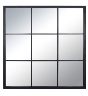 ELECTROPHORESIS POWDER COATED   35in X 35in   Traditional Square Black Windowpane Powder Coated  Wal