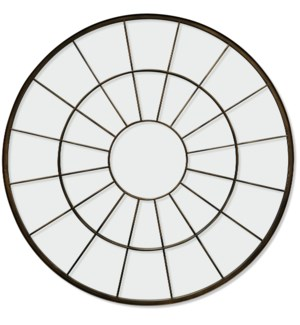 ELECTROPHORESIS POWDER COATED   40in X 40in   Traditional Round Bronze Powder Coated Mirror