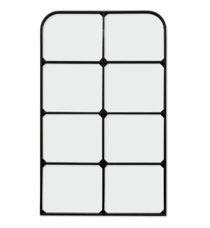 ELECTROPHORESIS POWDER COATED   47in X 32in   Traditional Windowpane Black Powder Coated Metal Wall
