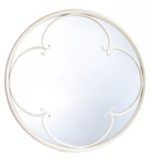 TAYLOR TAUPE MIRROR | 23in w. X 23in ht. X 2in d. | Powder Coated Window Pane Wall Mirror