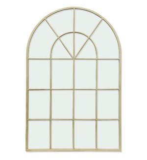 ELECTROPHORESIS POWDER COATED   35in X 24in   Traditional Windowpane Antique Cream Powder Coated Met