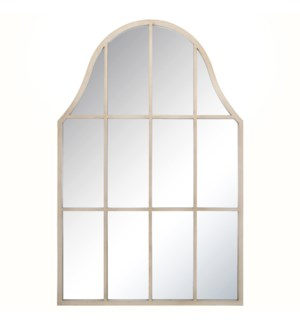 TAYLOR TAUPE MIRROR | 39in w. X 44in ht. X 1in d. | Powder Coated Window Pane Wall Mirror