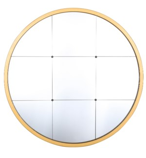 GRAYSON GOLD MIRROR | 30in w. X 30in ht. X 1in d. | Metal Frame Window Panel Wall Miror