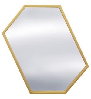 GRAYSON GOLD MIRROR | 20in w. X 30in ht. X 1in d. | Metal Frame Window Panel Wall Miror