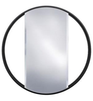 EBONY METAL MIRROR | 24in w. X 24in ht. X 1in d. | Metal Frame Window Panel Wall Miror