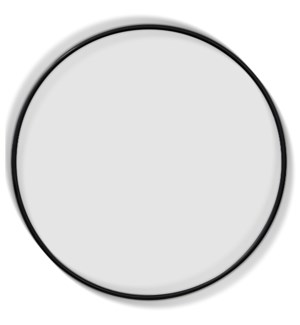 LARGE HALO MIRROR | 39in ht X 39in w X 2in d | Aluminum Frame Clear Glass Mirror