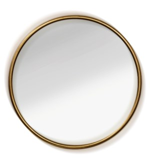 SMALL HALO MIRROR | 24in ht X 24in w X 2in d | Aluminum Frame Clear Glass Mirror