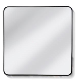 LARGE STREAMLINE MIRROR | 32in ht X 32in w X 2in d | Aluminum Frame Clear Glass Mirror
