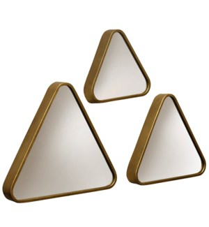 Gold Mirrors    Set of Three   Transitional   Metal Material