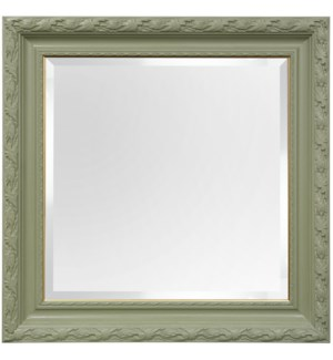 PAINTED FRAMED MIRROR | 40ht X 40w | Made in USA
