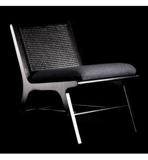 RAFFLES CHAIR BLACK | 32in X 22in | Imagine sitting in your garden room or on the veranda sipping co