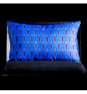 BLUE IKAT LUMBAR PILLOW | 3in X 20in | Blue Ikat Pillow. Vibrant colors and bold pattern choices fro