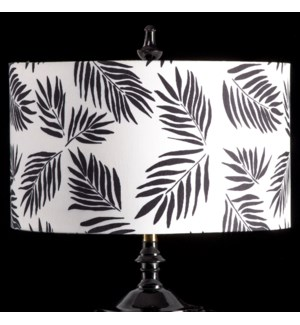 BLACK PALM MIXOLOGY SHADE | LARGE | 11in X 19in | Available in three sizes  this lighting collection
