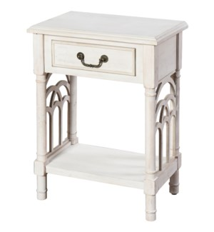 One drawer side table with bottom shelf