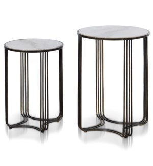TOWER TABLE SET | Large 18in w. X 26in ht. X 18in d. | Small 15in w. X 22in ht. X 15in d. | Set of T