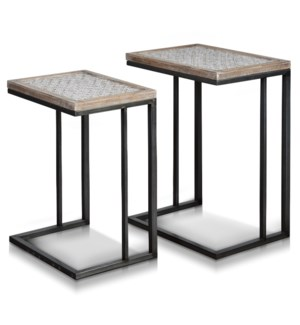 JACE TABLE SET | Large 18in w. X 25in ht. X 13in d. | Small 16in w. X 22in ht. X 12in d. | Set of Tw