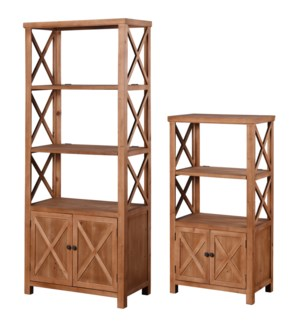 BARNWOOD BOOKCASES | Large 30in w. X 73in ht. X 16in d. | Small 25in w. X 47in ht. X 14in d. | Set o