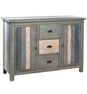 Sanibel Breakfront with Three Drawers and Two Doors
