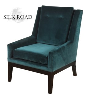 Silk Road Branded | Mid Century Modern Lounge Chair with Semi-Attached Back Rest  Loose Cushion Seat