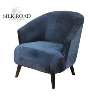 Silk Road Branded | Shelter Arm  Barrel Back Lounge Chair with Tight Seat and Backrest  Upholstered