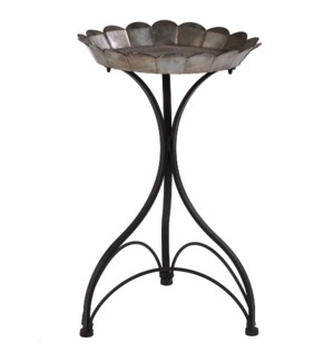 Large Cole Metal Accent table Silver/ Black