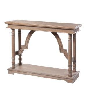 Weathered Wood Trestle Table | 33in X 47in X 15in | Console Table