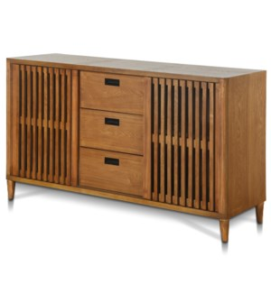 BRANDON BUFFET | 64in w. X 36in ht. X 18in d. | Lattice Two Door Three Drawer Buffet made of Straigh